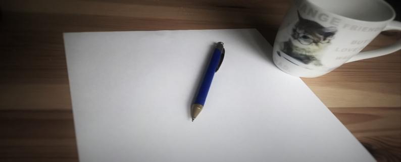 Kirjoittamisen vaikeudesta